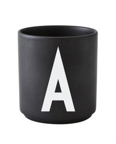 Design Letters black cups aj a 1