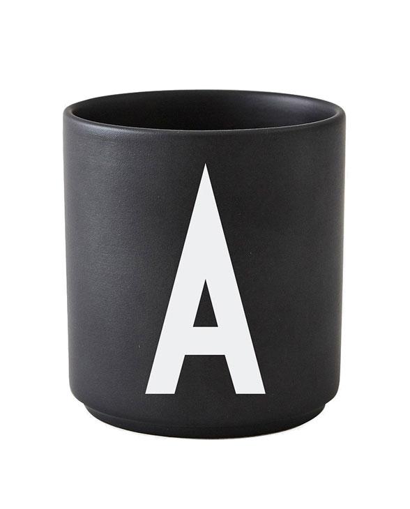 Design Letters black cups aj a 1