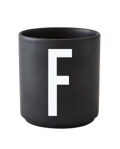 Design Letters black cups aj f 1