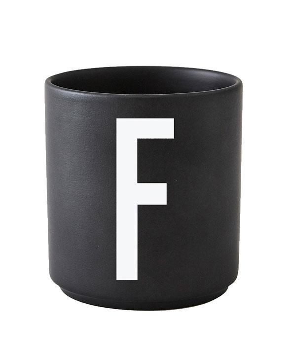 Design Letters black cups aj f 1