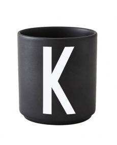 Design Letters black cups aj k 1