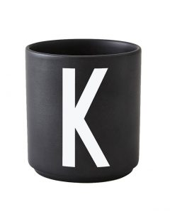 Design Letters black cups aj k 1