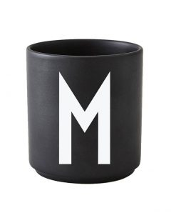 Design Letters black cups aj m 1