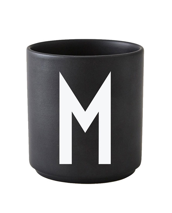 Design Letters black cups aj m 1