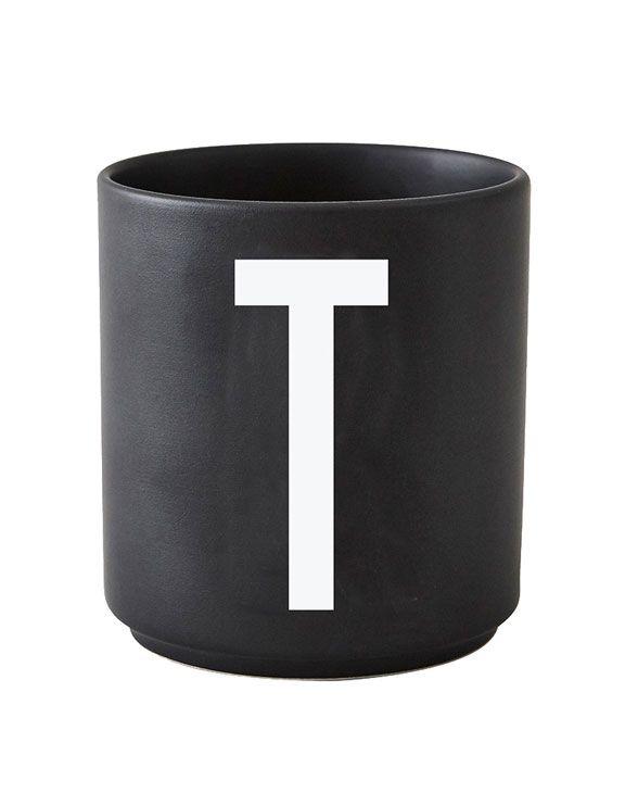 Design Letters black cups aj t 1