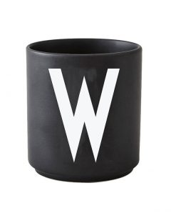 Design Letters black cups aj w 1