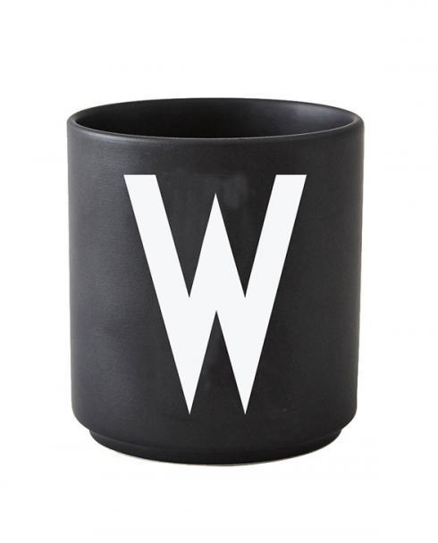 Design Letters black cups aj w 1