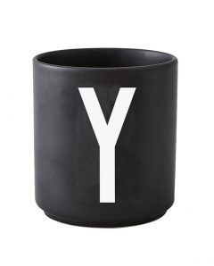 Design Letters black cups aj y 1
