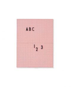 Design Letters messageboard pink a4