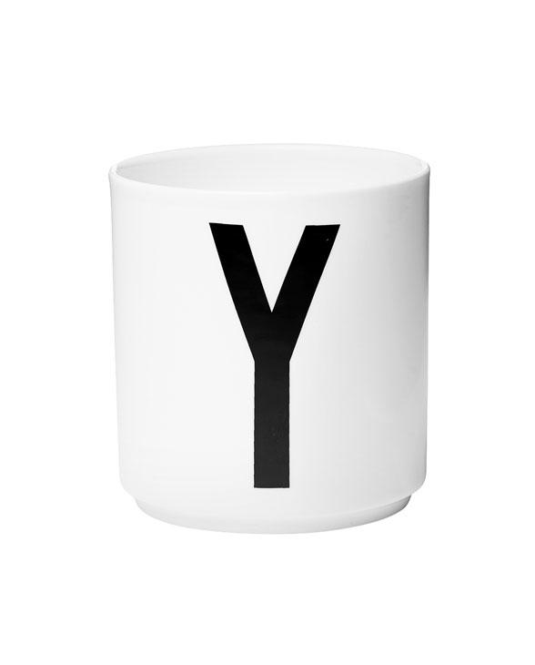 Design Letters porcelain cups y