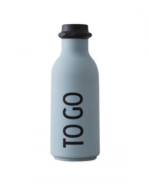 Design Letters to go bottle grey