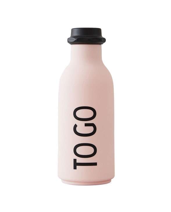 Design Letters to go bottle pink