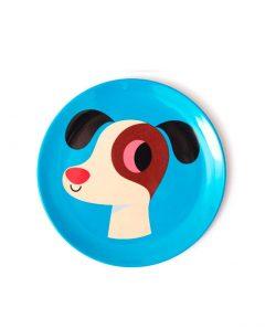 Omm Design Melamin Teller Hund