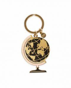 Rifle Paper  keychain  ekm001 globe