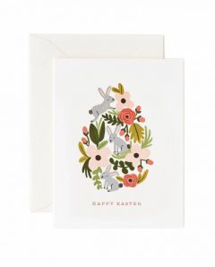 Rifle Paper Karte card easter gche01 floral egg