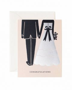 Rifle Paper Karte congrats beginnings wedding