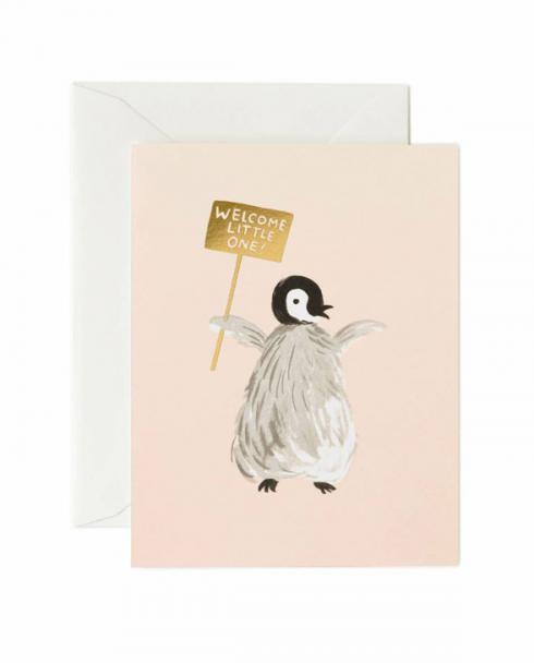 Rifle Paper Karte gck014 welcome penguin