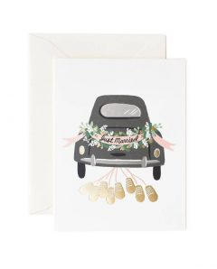 Rifle Paper Karte just married getaway wedding