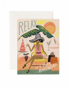 Rifle Paper Karte relax birthday