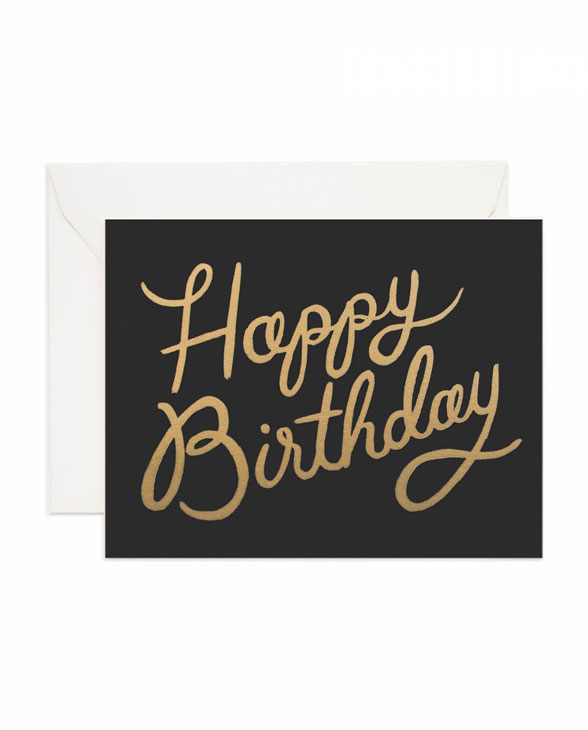 Rifle Paper Karte shimmering celebration birthday