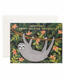 Rifle Paper Karte sloth belated birthday