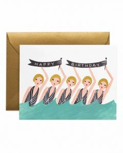 Rifle Paper Karte synchronized swimmers birthday
