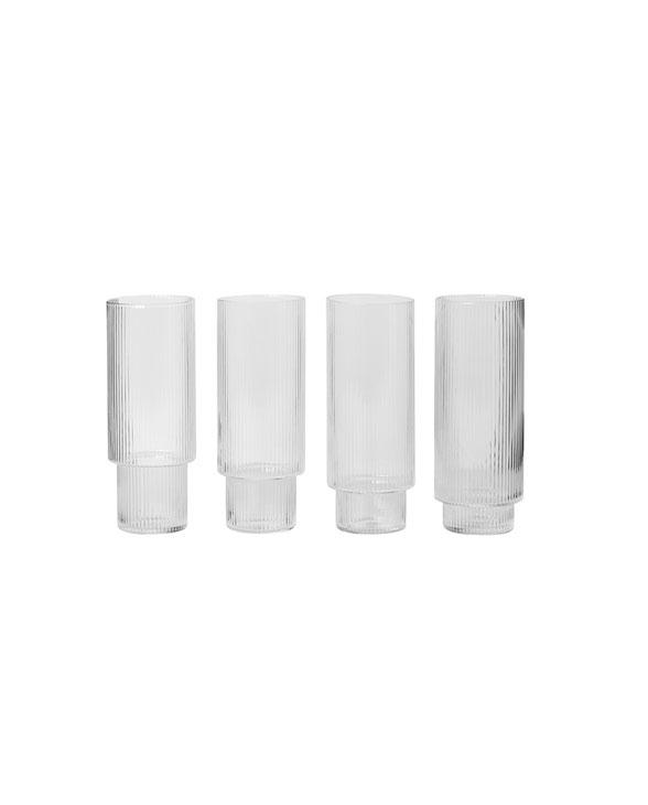 ferm Living 5445 ripple longdrink glasses 1