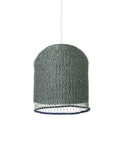 ferm living 9277 braided lampshade dusty green