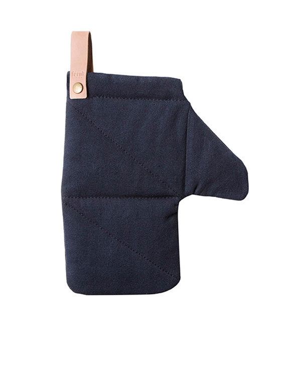 ferm living canvas oven mitten blue 5531