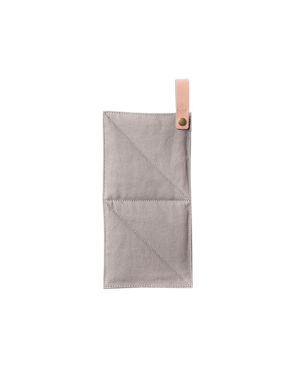 ferm living canvas pot holder grey 5534
