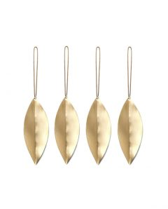 ferm living leaf brass ornaments 4erSet