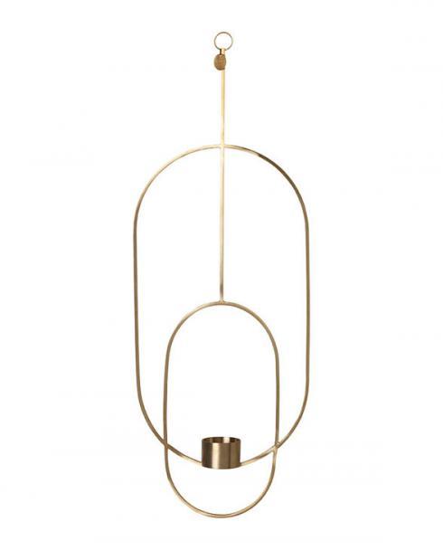 ferm living tealight holder brass oval 5749