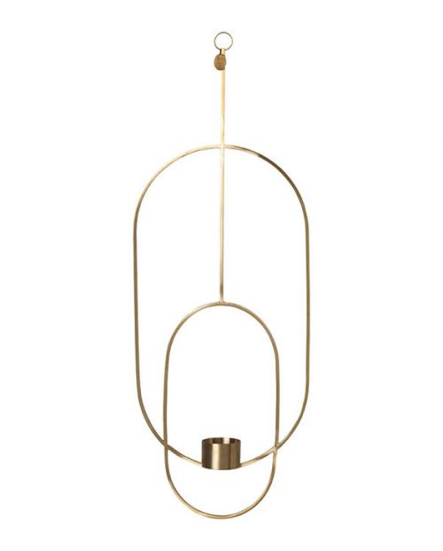 ferm living tealight holder brass oval 5749