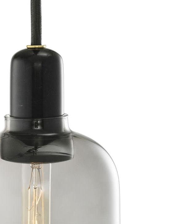 Normann Copenhagen 502116 amp lamp small smokeblack 2