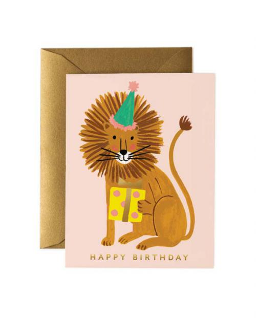 Rifle Paper Karte lion birthday
