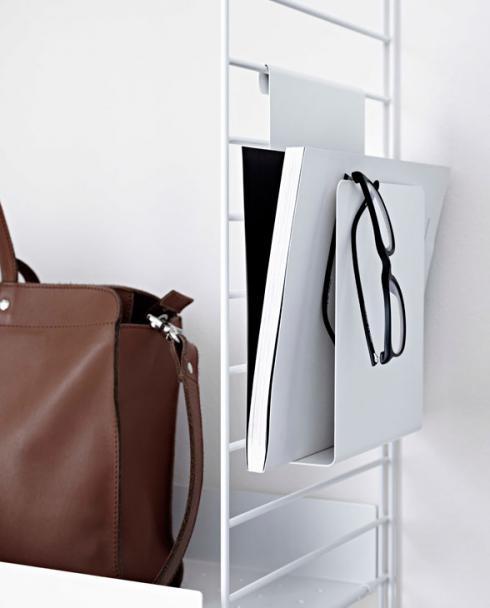 String magazineholder white imp