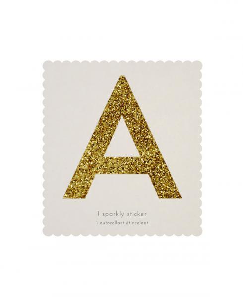merimeri glitter sticker az a