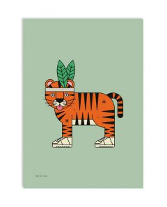 red fries artprint 0178 high five tiger a3