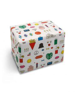 red fries geschenkpapier 0137 wrap birthday mix 1