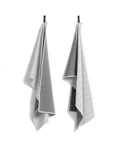 HAY Tea Towel Dash Grid grey