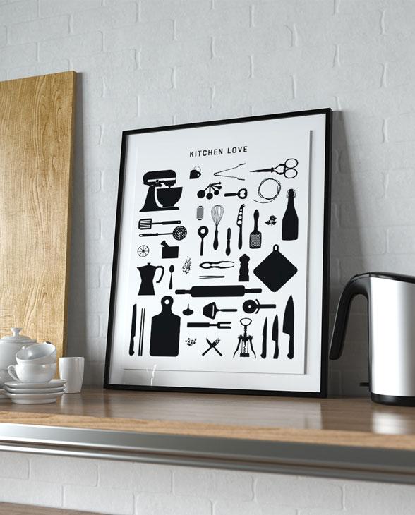 fox poet artprint kitchen 02