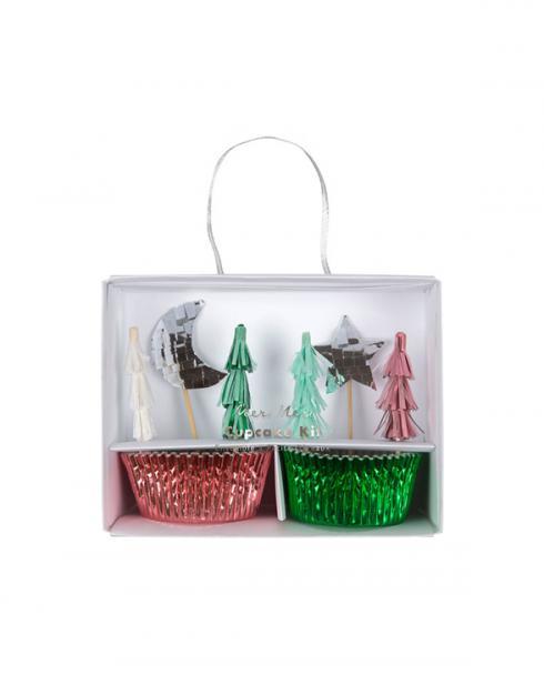 merimeri cupcake kit festive trees 181072a xmas