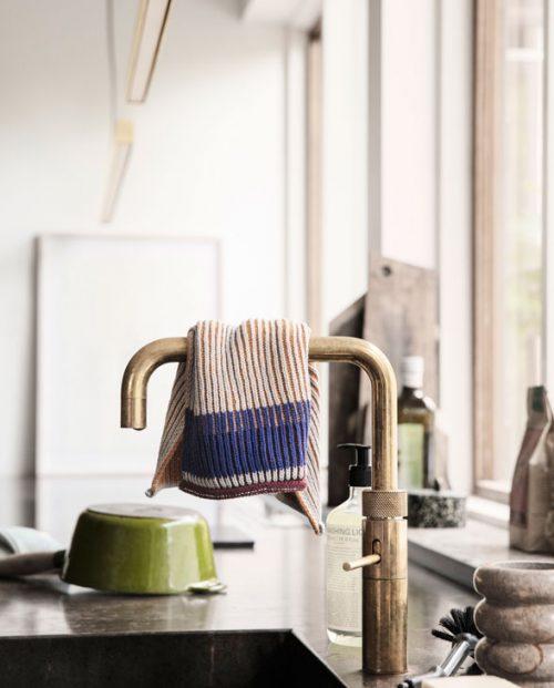 ferm living Akin dish cloth Dull Blue 03