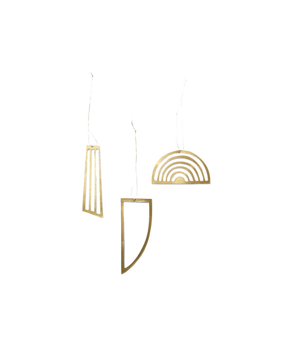 ferm living Golden ornament 24223 01