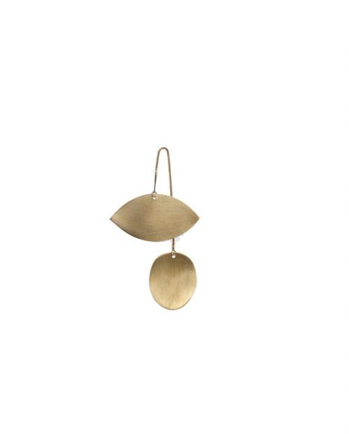 ferm living Twin eye brass ornamen 24221
