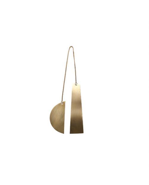 ferm living Twin half moon brass ornament 24222