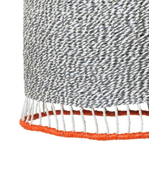 ferm living braided lampshade red 03