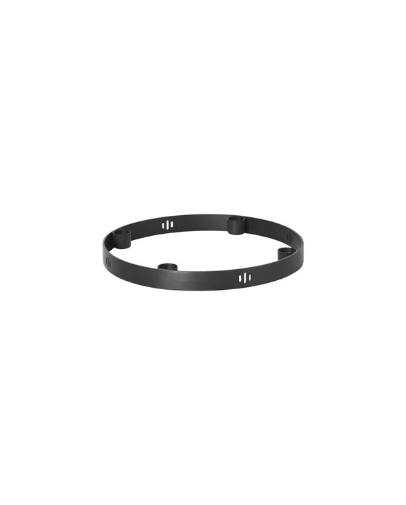 ferm living candleholder circle 5725 black 01