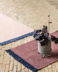 ferm living rug melange bluepink 8224 02