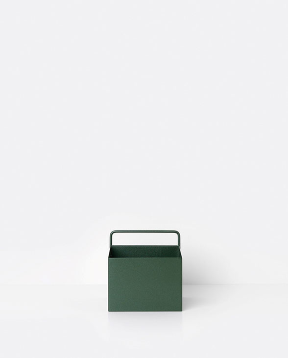 ferm living wallbox square green 01